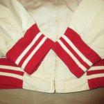 画像6: 古着 60's CHAMPION チャンピオン ランナーズタグ フラタニティ カレッジ コットンジャケット NAT×RED / 190911 (6)