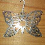画像2: アンティーク シルバー ペンダントトップ BUTTERFLY 蝶々 / 191104 (2)