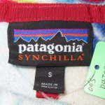 画像4: 古着 00's patagonia パタゴニア スナップT フリースジャケット 羽根柄 MIX / 191204 (4)