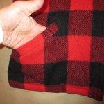 画像6: 古着 60's King Kole キングコール ウール ハンティングジャケット RED×BLK / 191210 (6)