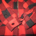 画像5: 古着 60's King Kole キングコール ウール ハンティングジャケット RED×BLK / 191210 (5)