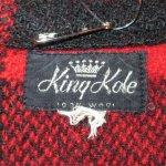 画像3: 古着 60's King Kole キングコール ウール ハンティングジャケット RED×BLK / 191210 (3)
