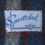 画像3: 古着 40's JC PENNEY SPORTCLAD ストアブランド ウール スポーツジャケット BLUE CHK / 191210 (3)