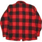画像2: 古着 60's King Kole キングコール ウール ハンティングジャケット RED×BLK / 191210 (2)