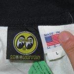 画像4: 古着 00's MOONEYES ムーンアイズ コットン レーシングジャケット USA製 BLK / 200126 (4)