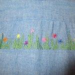 画像10: 古着 70's Levi's リーバイス コットン100% 刺繍 シャンブレーシャツ BLUE / 200405 (10)