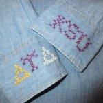 画像9: 古着 70's Levi's リーバイス コットン100% 刺繍 シャンブレーシャツ BLUE / 200405 (9)