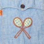 画像7: 古着 70's Levi's リーバイス コットン100% 刺繍 シャンブレーシャツ BLUE / 200405 (7)