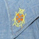 画像6: 古着 70's Levi's リーバイス コットン100% 刺繍 シャンブレーシャツ BLUE / 200405 (6)