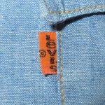 画像5: 古着 70's Levi's リーバイス コットン100% 刺繍 シャンブレーシャツ BLUE / 200405 (5)