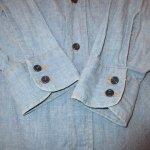 画像11: 古着 70's Levi's リーバイス コットン100% 刺繍 シャンブレーシャツ BLUE / 200405 (11)
