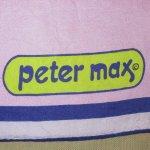 画像2: 古着 70's PETER MAX ピーターマックス スカーフ / 200605 (2)