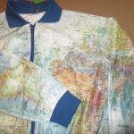 画像10: 古着 00's GABELLI US INC 世界地図柄ペーパージャケット MIX / 200703 (10)
