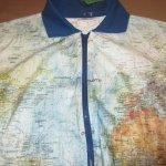 画像3: 古着 00's GABELLI US INC 世界地図柄ペーパージャケット MIX / 200703 (3)
