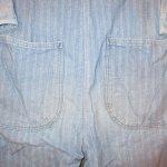 画像10: USED 80's JC PENNEY ストアブランド ヘリンボーン デニム オールインワン ツナギ USA製 BLUE / 200714 (10)