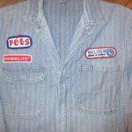 画像3: USED 80's JC PENNEY ストアブランド ヘリンボーン デニム オールインワン ツナギ USA製 BLUE / 200714 (3)
