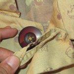 画像8: USED 90's ミッキーマウス ハンドメイド コート BEI / 200914 (8)