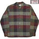 画像1: USED 60's McGREGOR マクレガー ブロックチェック オープンカラー ボックスシャツ MIX / 200909 (1)