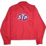画像2: USED 70's STP レーシング ナイロンジャケット RED / 200920 (2)