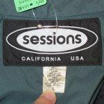 画像3: USED 90's SESSIONS セッションズ ナイロンジャケット BLUEGRY / 201010 (3)