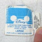画像5: USED 80's MICKEY MOUSE ミッキーマウス サテン フリース ジャケット GRY×RED / 201122 (5)