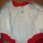画像8: USED 80's MICKEY MOUSE ミッキーマウス サテン フリース ジャケット GRY×RED / 201122 (8)