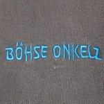 画像4: USED 90's BOHSE ONKELZ ベーゼオンケルス スウェットパーカ BLK / 210112 (4)