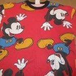 画像5: USED 90's MICKEY&CO ミッキーマウス 全面プリント スウェット RED /210429 (5)
