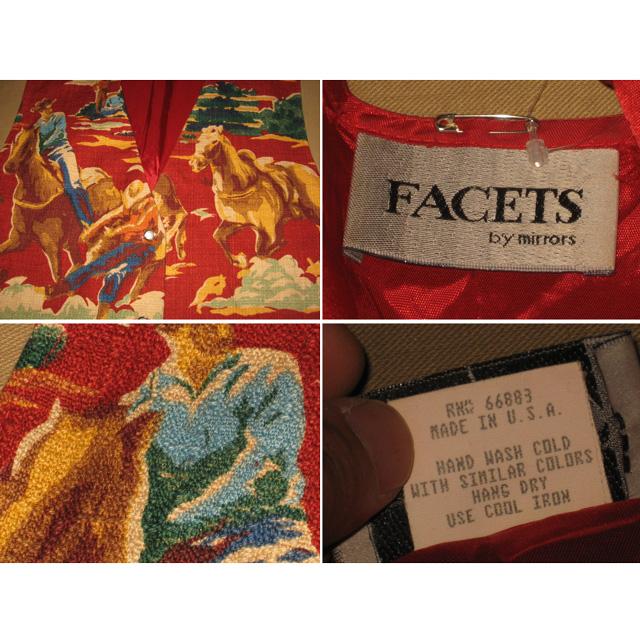 画像3: 古着 FACETS ウエスタン柄 スーツベスト USA製 90's/120516