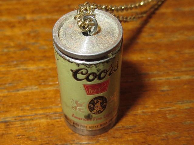 画像1: アンティーク Coors クアーズ ビール缶 ネックレス 80's/130212 (1)