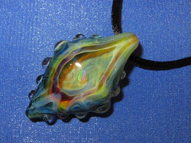 画像1: 新品 グラスアート GLASS ARTS ハンドメイド ヒッピー ペンダント 13MA-4/130411