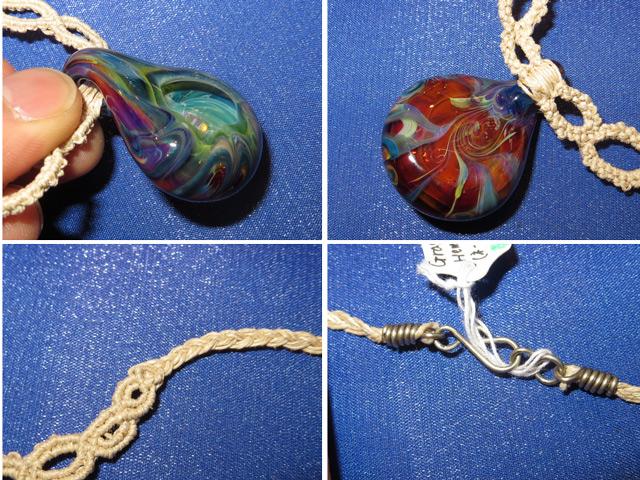 画像3: 新品 グラスアート GLASS ARTS ハンドメイド ヒッピー ペンダント HEMP 13MA-6/130411