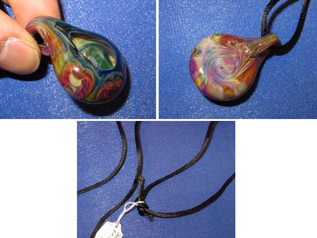 画像3: 新品 グラスアート GLASS ARTS ハンドメイド ヒッピー ペンダント 13MA-5/130411
