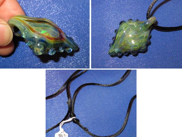 画像3: 新品 グラスアート GLASS ARTS ハンドメイド ヒッピー ペンダント 13MA-4/130411
