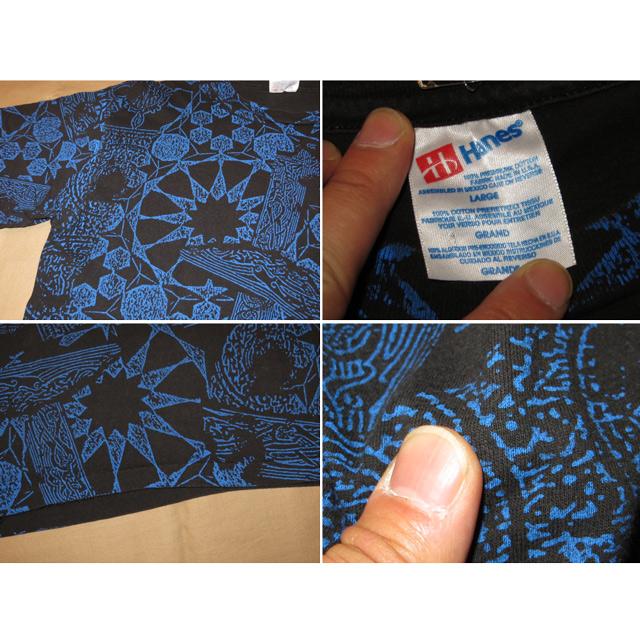 画像4: 【過去に販売した商品です】古着 JIMMY PAGE ROBERT PLANT ZEP レッド ツェッペリン 総柄 Tシャツ 90's/130523