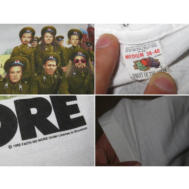 画像5: 【過去に販売した商品です】古着 FAITH NO MORE フェイスノーモア Midlife Crisis ツアー Tシャツ 90's/130529