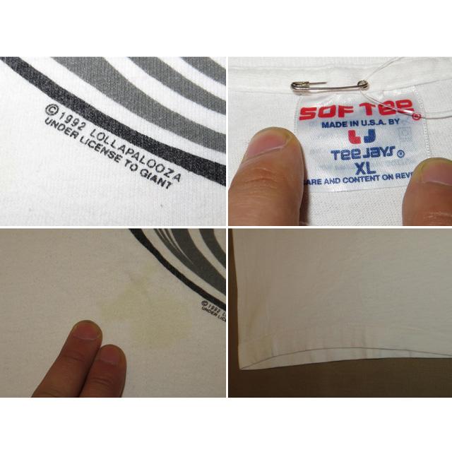 画像5: 【過去に販売した商品です】古着 LOLLAPALOOZA ロラパルーザ 1992 フェス Tシャツ WHT 90's/130614