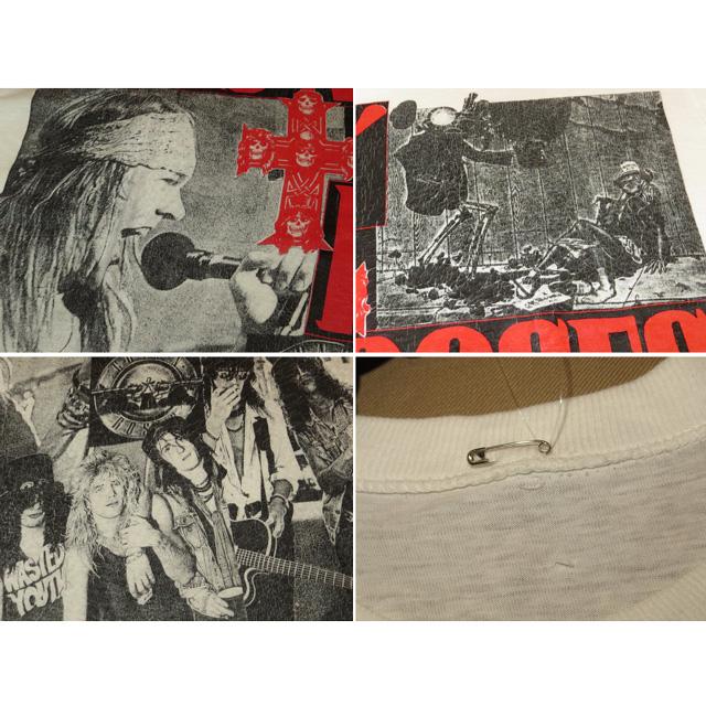 画像4: 【過去に販売した商品です】古着 GUNS N' ROSES ガンズ&ローゼス フォト Tシャツ WHT 80's/130701