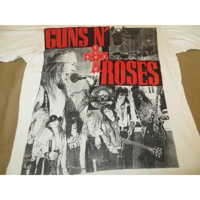 画像3: 【過去に販売した商品です】古着 GUNS N' ROSES ガンズ&ローゼス フォト Tシャツ WHT 80's/130701
