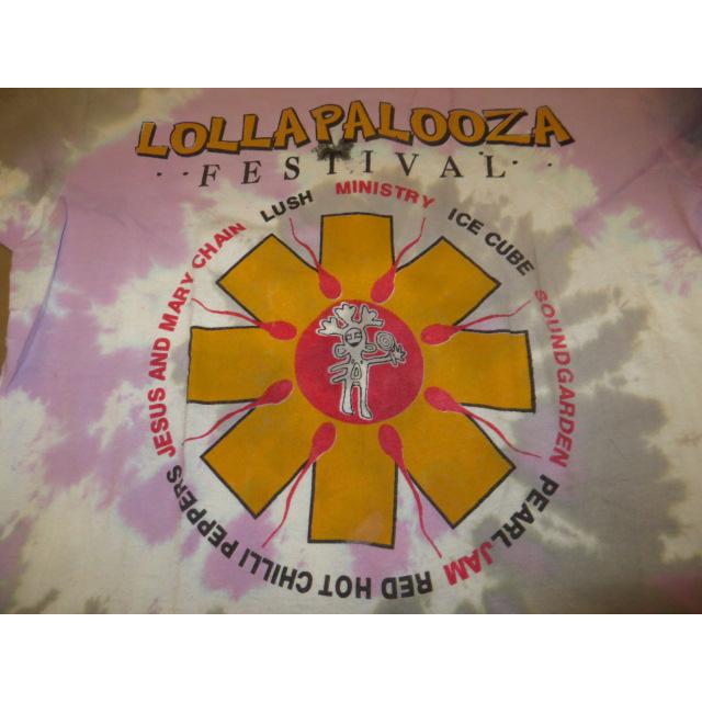 画像3: 【過去に販売した商品です】古着 LOLLAPALOOZA ロラパルーザ RHCP レッチリ アスタリスク タイダイ Tシャツ 90's/130717