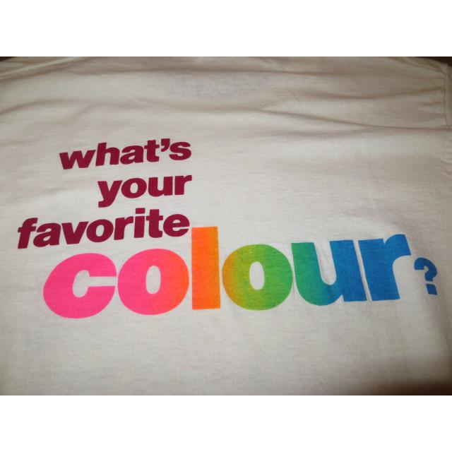 画像4: 【過去に販売した商品です】古着 LIVING COLOUR リヴィングカラー favorite colour Tシャツ WHT 80's/130717