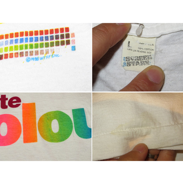 画像5: 【過去に販売した商品です】古着 LIVING COLOUR リヴィングカラー favorite colour Tシャツ WHT 80's/130717