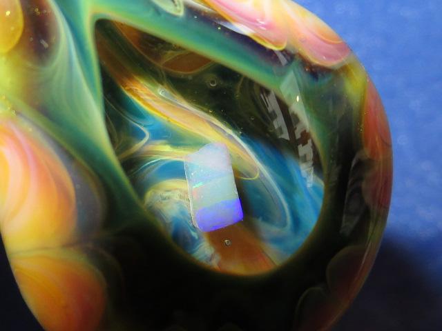 画像3: 新品 グラスアート GLASS ARTS ハンドメイド ヒッピー ペンダント Milky 13SP-7 / 130919