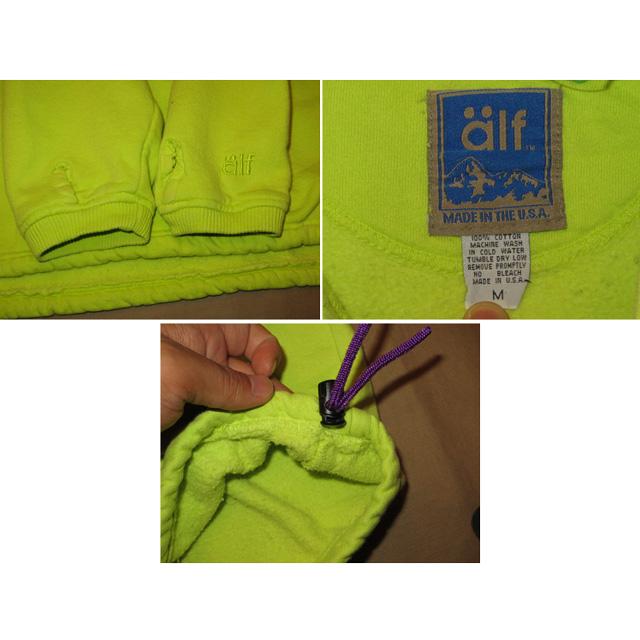 画像4: 古着 alf アルフ チロリアンテープ スウェット L.GRN USA製 90's / 131008