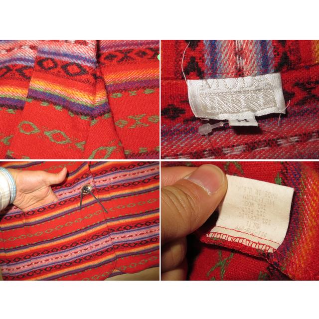 画像5: 古着 MODA INTL ネイティヴ 民族柄 ウール混 ジャケット USA製 80's /140219
