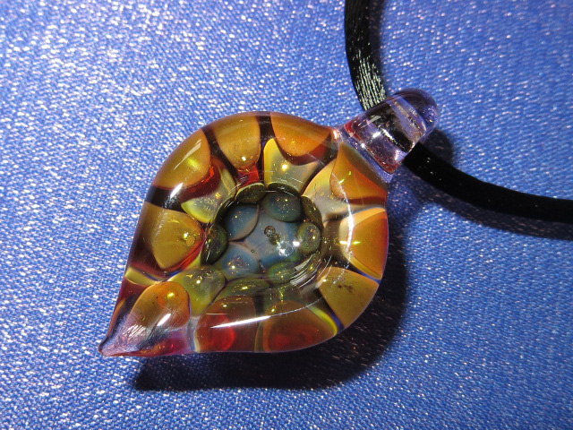 画像1: 新品 グラスアート GLASS ARTS ハンドメイド ペンダント 14MA-10 / 140402 (1)