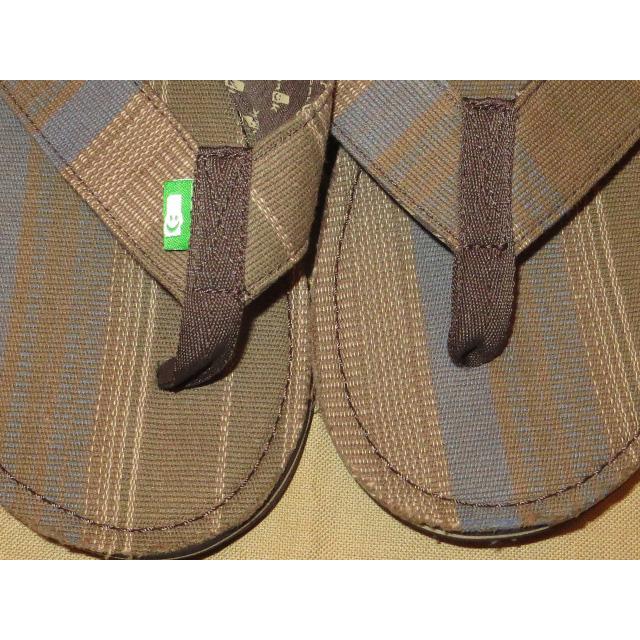 画像3: 新品 メンズ sanuk サヌーク 民族 ストライプ ビーチサンダル CHA 00's /140722