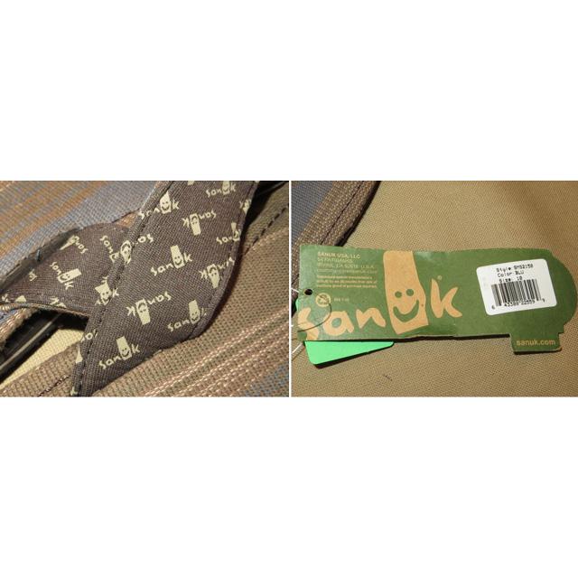 画像5: 新品 メンズ sanuk サヌーク 民族 ストライプ ビーチサンダル CHA 00's /140722
