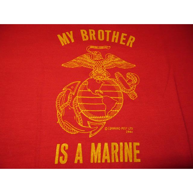 画像3: 古着 USMC マリンコープ ミリタリー アメリカ軍 Tシャツ RED 80's / 140801