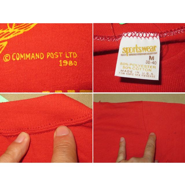 画像4: 古着 USMC マリンコープ ミリタリー アメリカ軍 Tシャツ RED 80's / 140801